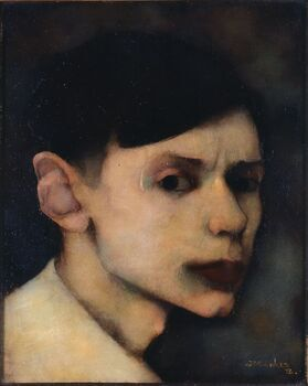 Zelfportret van Jan Mankes, Jan Mankes, 1912