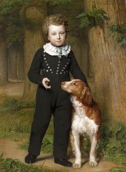 kind met hond